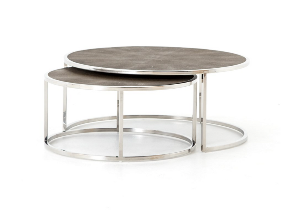 Shagreen Nesting Coffee Table, Home Furnishings, Laura of Pembroke