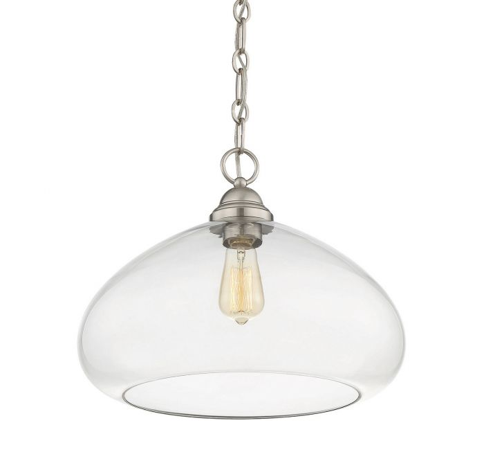 Shane Satin Nickel 1 Light Pendant