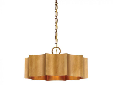 Shelby Gold Patina 3 Light Pendant
