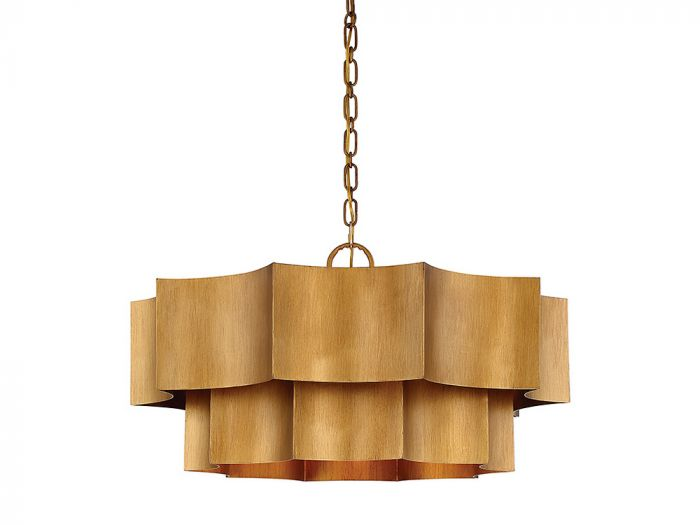 Shelby Gold Patina 6 Light Pendant