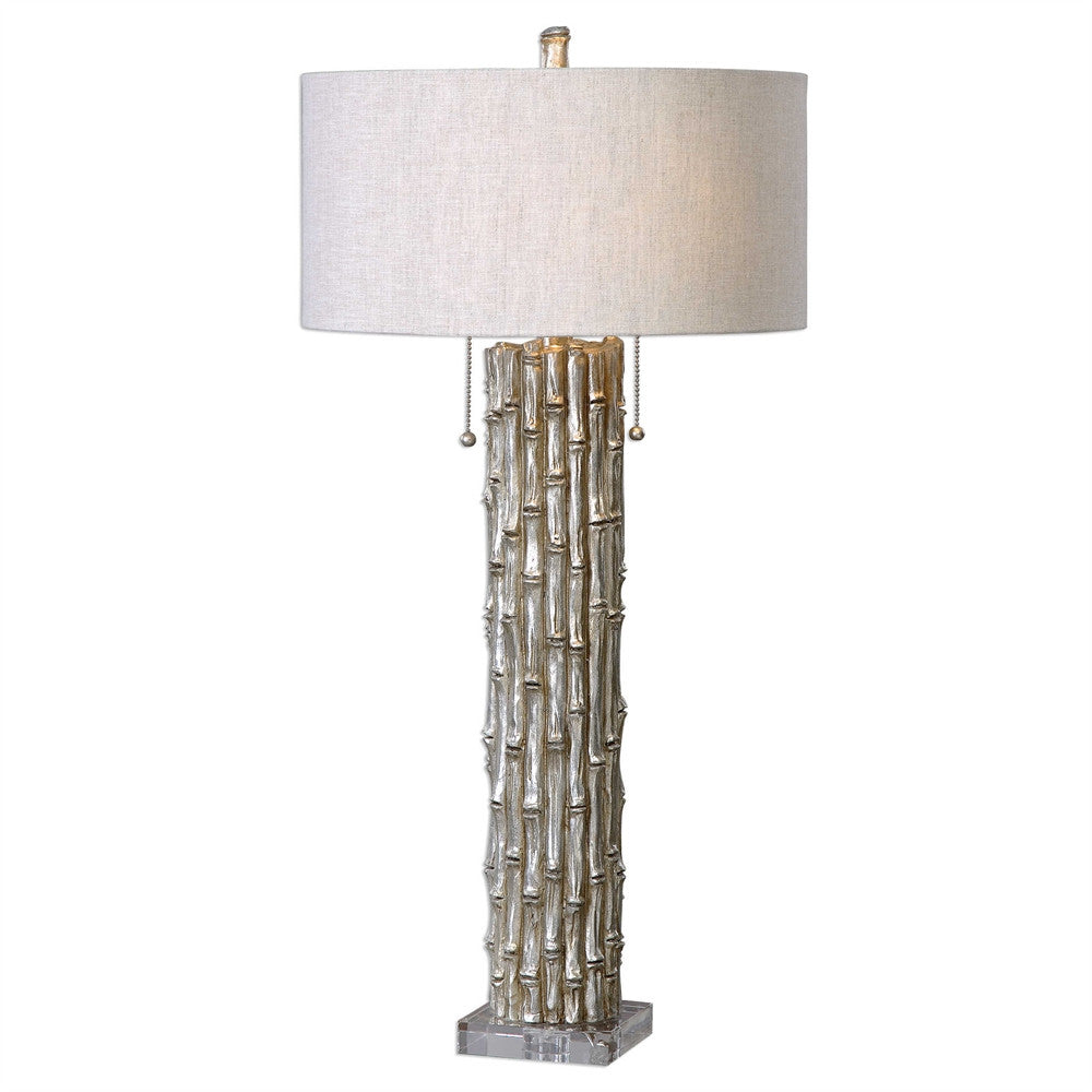Silver Bamboo Lamp, Home Accessories, Laura of Pembroke