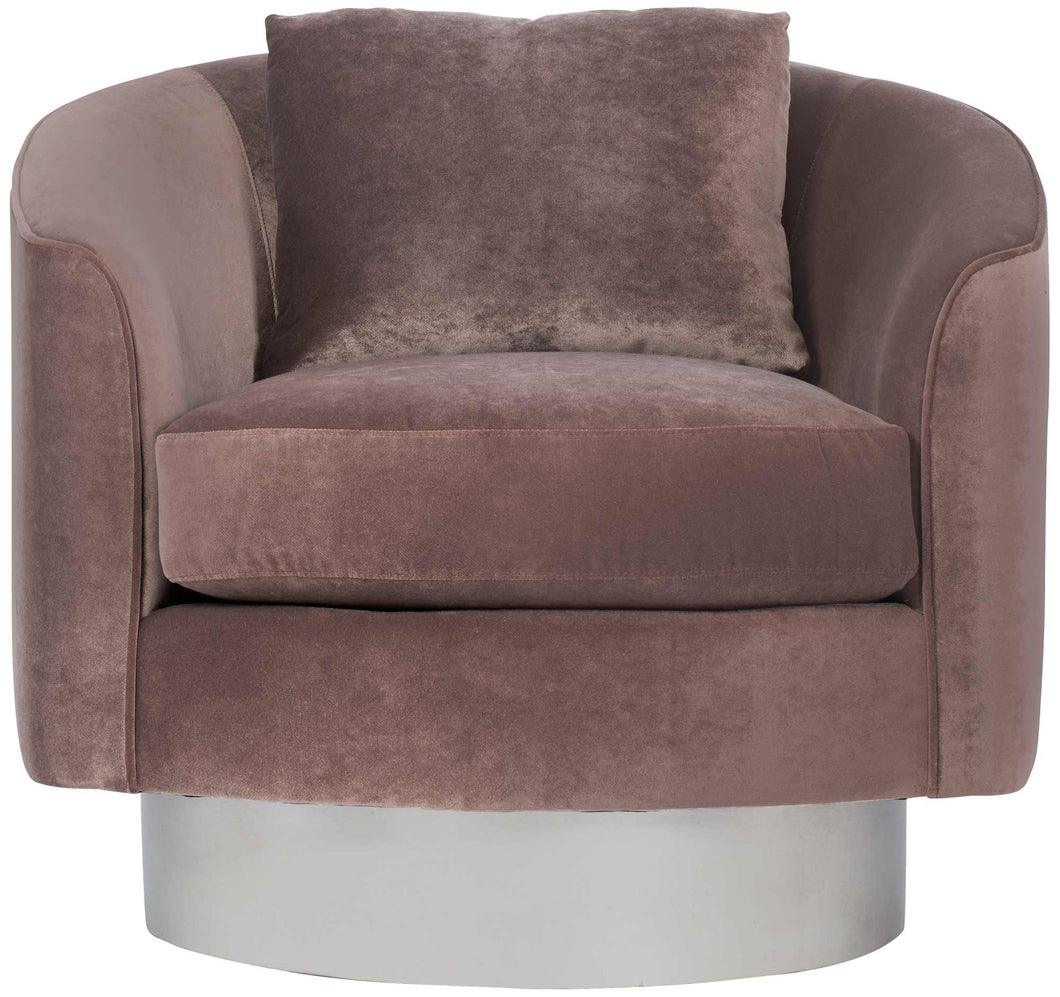 Silver Leaf Base Swivel Chair