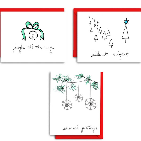 Simple Greetings | Holiday Card Set