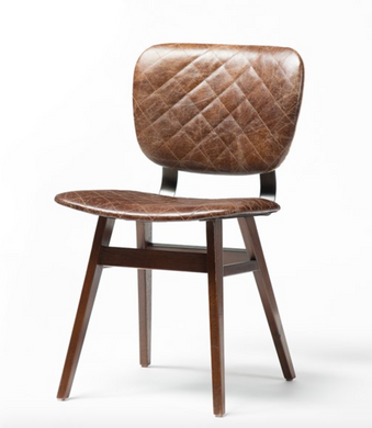 Sloan Dining Chair-Quilted Havana/Heavy Burlap