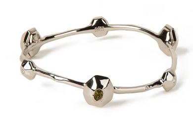 Soft Crumpled Octagon Bangle Bracelet