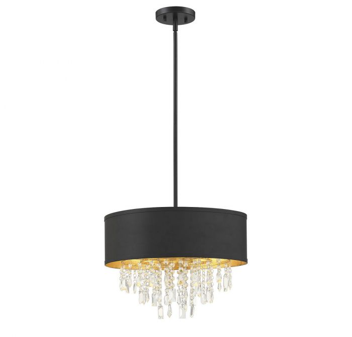 Sparkler 4 Light Convertible Semi Flush/Pendant
