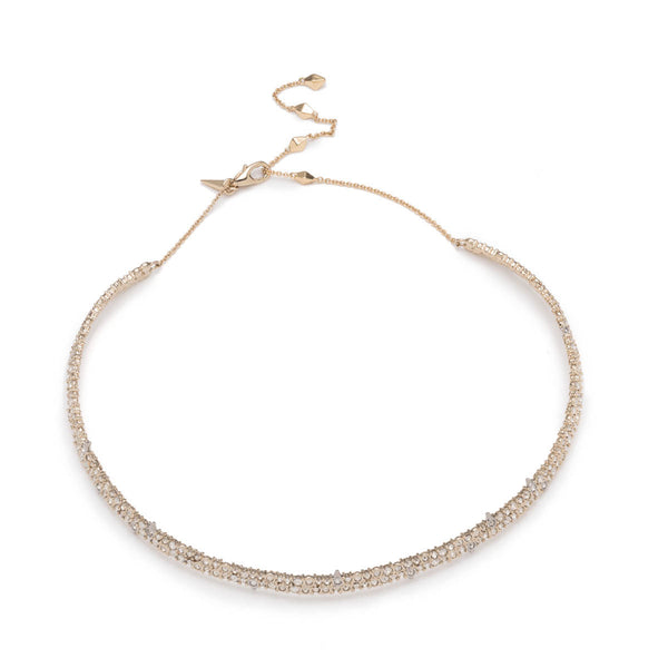 Spike Accented Choker Necklace