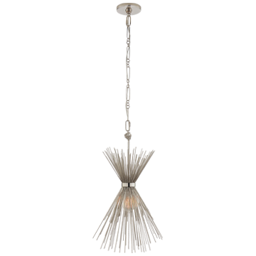Strada Small Chandelier in Polished Nickel