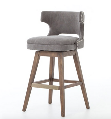 TASK SWIVEL STOOL-DARK MOON CANVAS-BAR