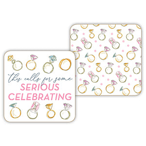 'This calls for serious celebrating' paper coasters