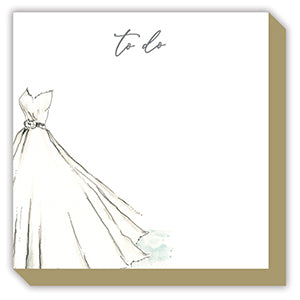 'To Do' Wedding Dress Luxe Notepad