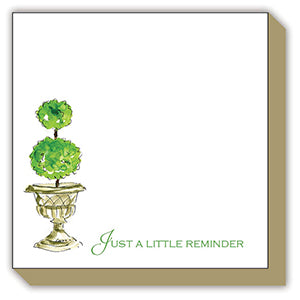 TOPIARY IN STONE URN JUST A LITTLE REMINDER LUXE NOTEPAD