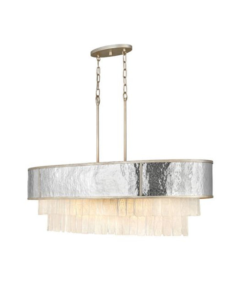 Ten Light Linear Chandelier