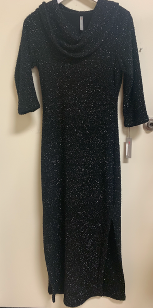 Textured Cowl Neck Dress