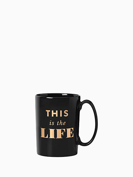 This Is The Life Mug, Gifts, Kate Spade, Laura of Pembroke