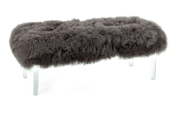 Tibetan Fur and Acrylic Bench