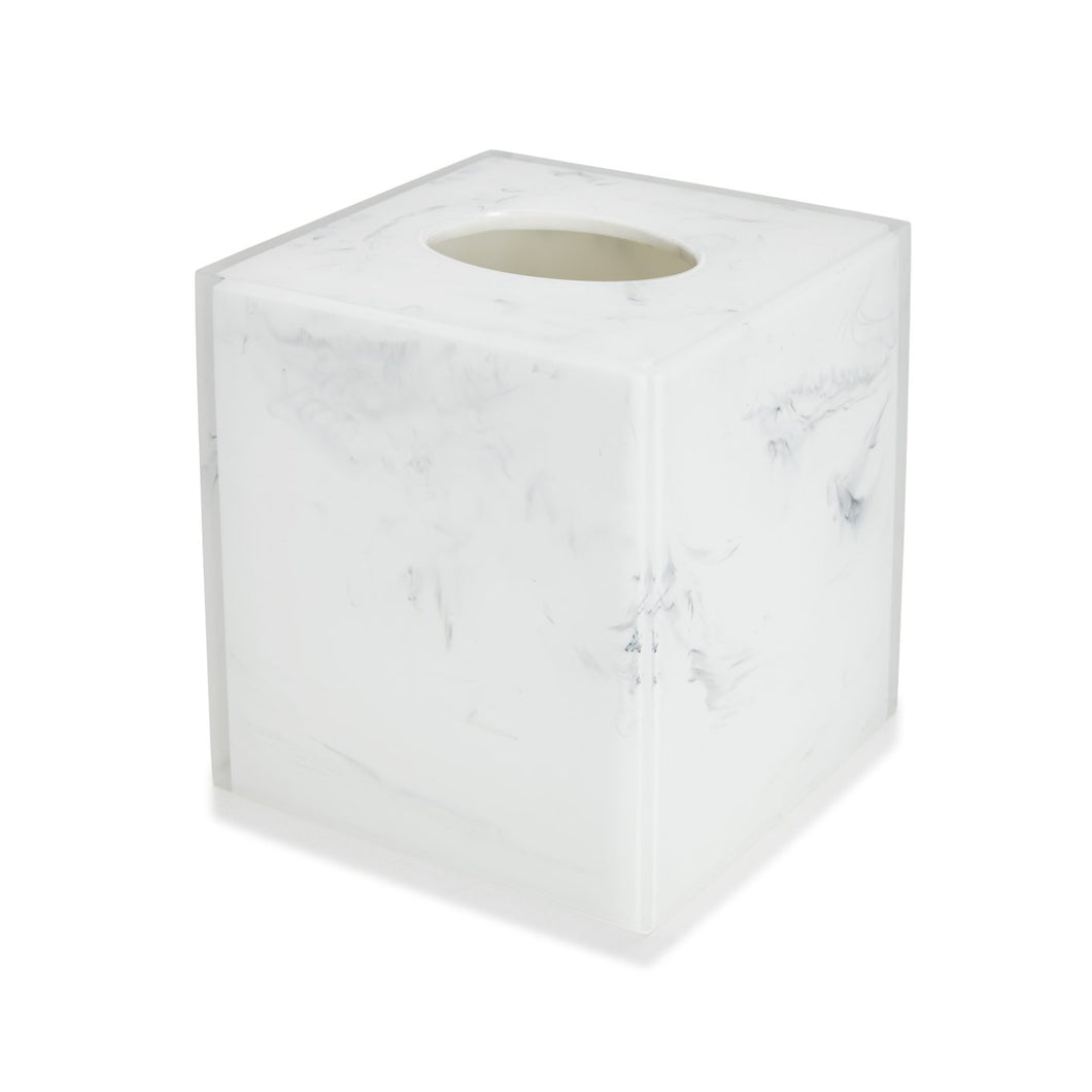 White and Black Tissue Holder