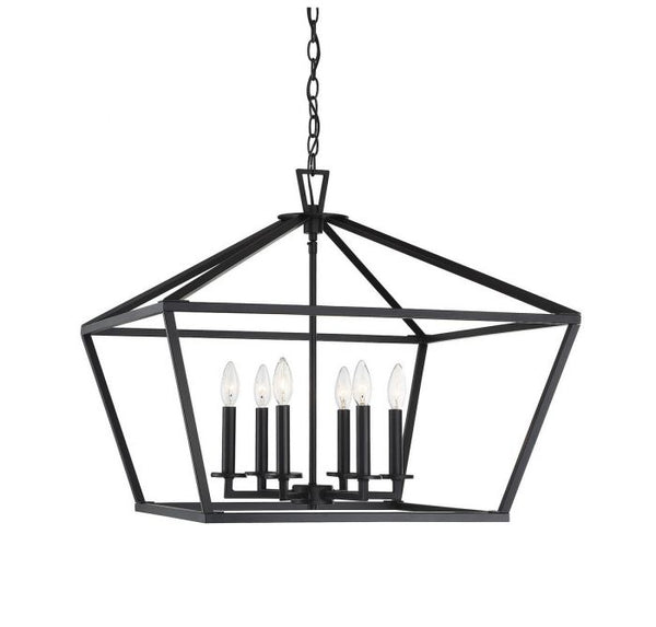 Townsend Matte Black 6 Light Black Lantern