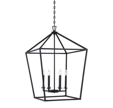 Townsend Matte Black 6 Light Foyer