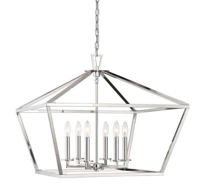 Townsend Polished Nickel 6 Light Polished Nickel Lantern