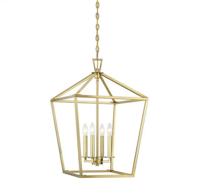 Townsend Warm Brass 4 Light Foyer