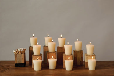 Unscented Votive Candles In Box, Set of 12