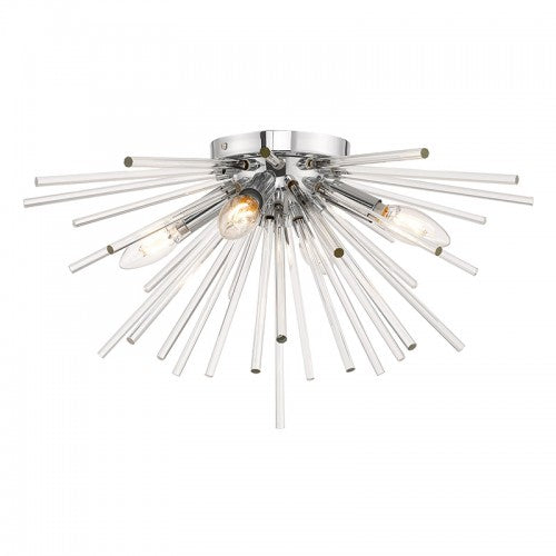Utopia 4 Light Polished Chrome Ceiling Mount, Lighting, Laura of Pembroke