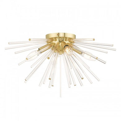 Utopia 4 Light Satin Brass Ceiling Mount, Lighting, Laura of Pembroke