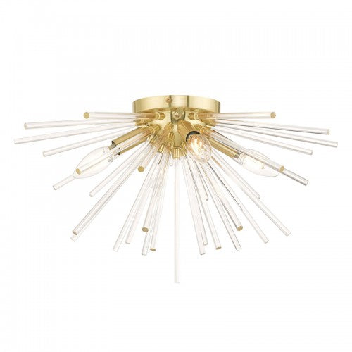 Utopia 4 Light Satin Brass Ceiling Mount