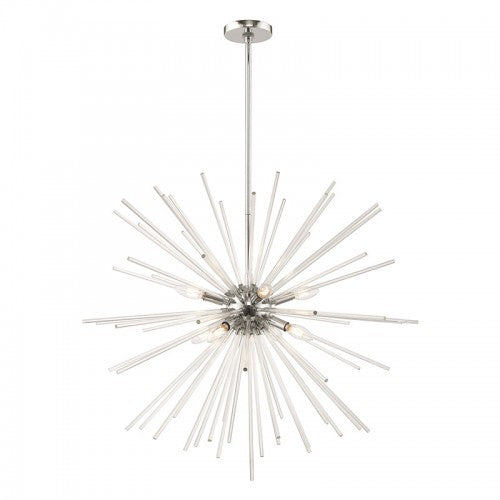 Utopia 8 Light Polished Chrome Pendant Chandelier