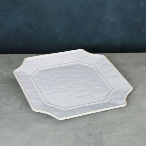 Charleston White Square Platter