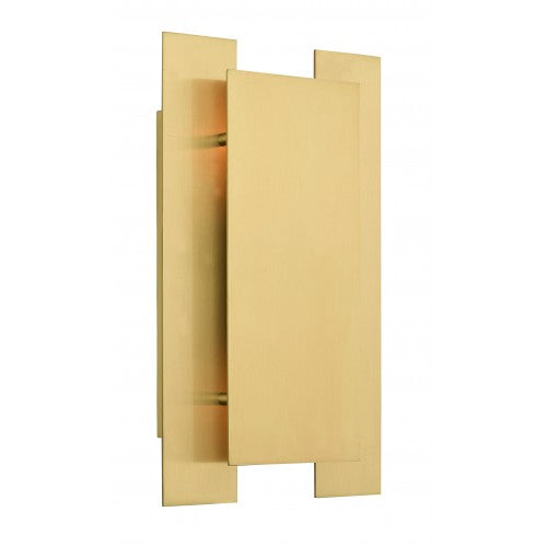 Varick 2 Light Satin Brass Wall Sconce