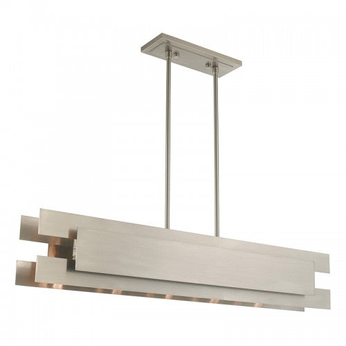 Varick 5 Light Brushed Nickel Linear Chandelier