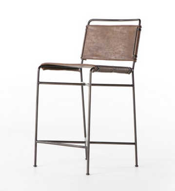 Wharton Bar Stool-Distressed Brown