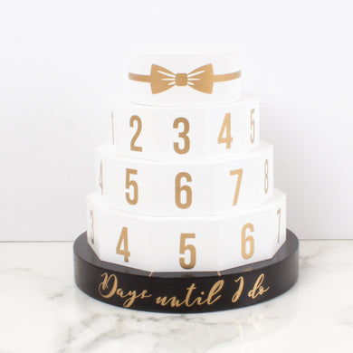 Wedding Cake Wooden Countdown Calendar