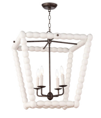 White Four-Light Pendant