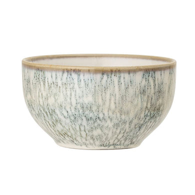 White Reactive Glaze Stoneware Bowl