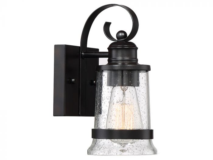 Winston English Bronze Wall Lantern - Small