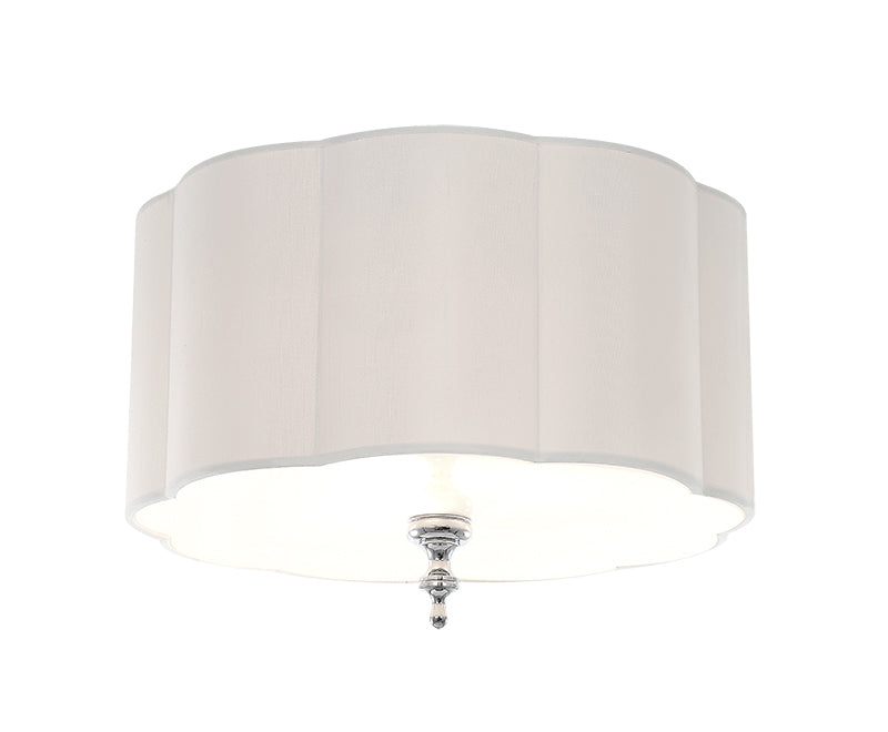 Off White Linen Shade Flush Mount