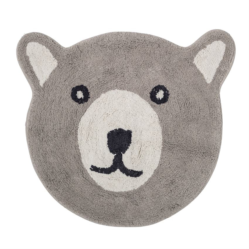Cotton Bear Rug, Grey