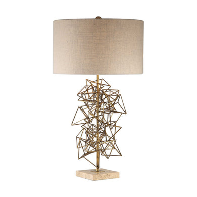 Abstract Gold Sculpture Table Lamp, Home Accessories, Laura of Pembroke