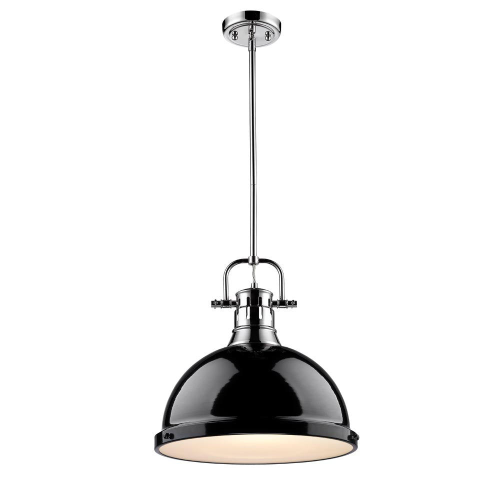 1 Light Pendant with Black Shade, Lighting, Laura of Pembroke
