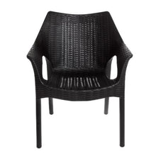 Black Wicker Outdoor Armrest Chair, Home Furnishings, Laura of Pembroke 4
