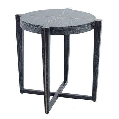 Black Wood Grained Accent Table