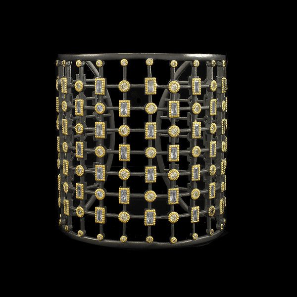 Black and Gold Thick Cuff