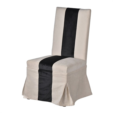 Black and Ivory Striped Dining Chair, Home Furnishings, Laura of Pembroke