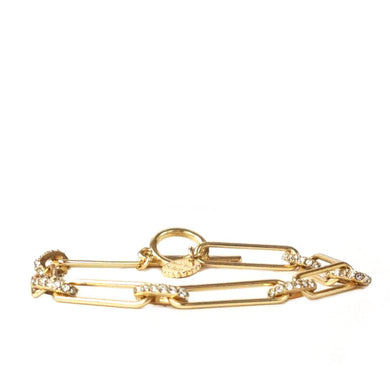 chain pave link toggle bracelet