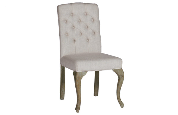 French Leg Tufted Dining Chair