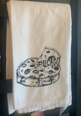 Chicago Pizza Dish Towel