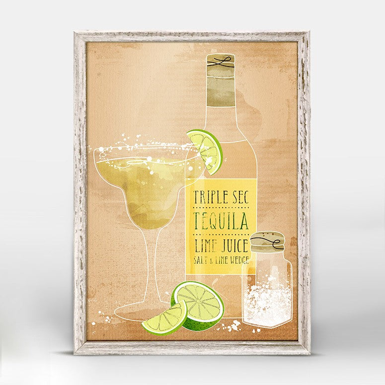 Cocktail Hour Mini Framed Canvas 5X7